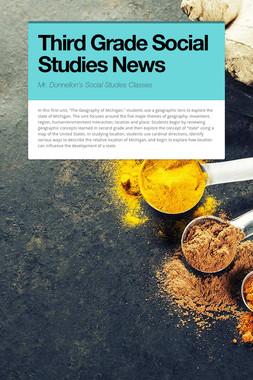 Third Grade Social Studies News