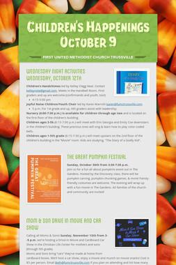 Children's Happenings     October 9