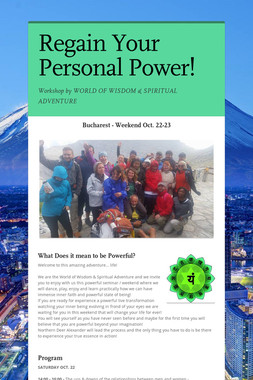 Regain Your Personal Power!
