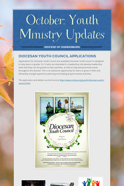 October: Youth Ministry Updates