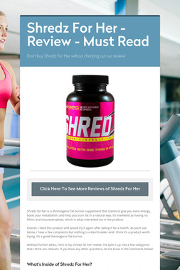 Shredz For Her - Review - Must Read