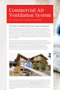 Commercial Air Ventilation System