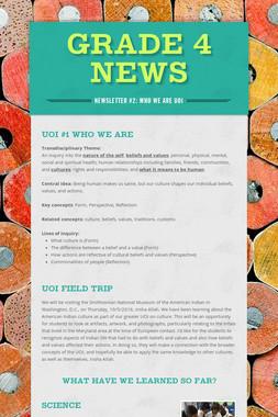 Grade 4 News