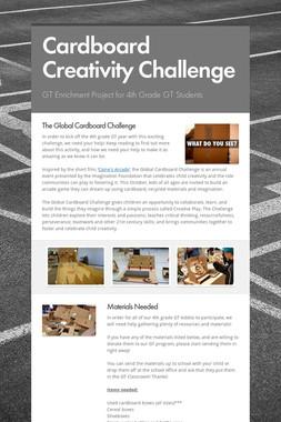 Cardboard Creativity Challenge