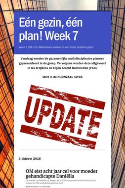 Eén gezin, één plan! Week 7