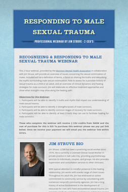 Responding to Male Sexual Trauma