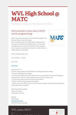 WVL High School @ MATC