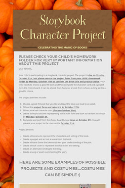 Storybook Character Project