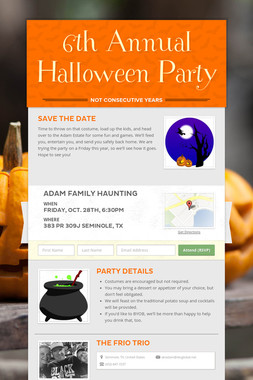 6th Annual Halloween Party