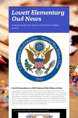 Lovett Elementary Owl News