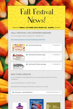 Fall Festival News!