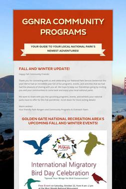 GGNRA Community Programs