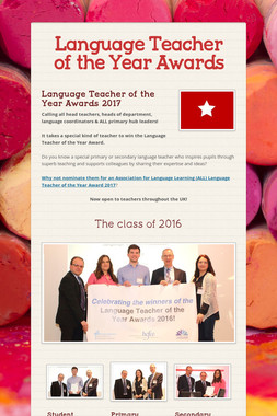 Language Teacher of the Year Awards