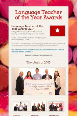 Language Teacher of the Year Awards