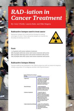 RAD-iation in Cancer Treatment