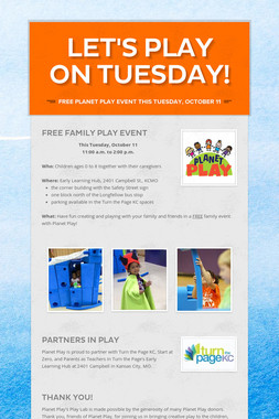 Let's Play on Tuesday!