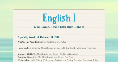 English I Smore Newsletters
