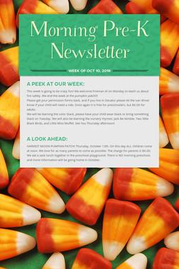 Morning  Pre-K Newsletter