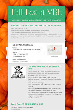 Fall Fest at VBE