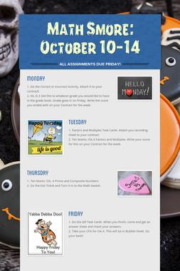 Math Smore: October 10-14