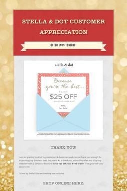 Stella & Dot Customer Appreciation