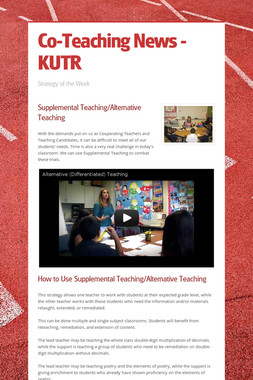 Co-Teaching News - KUTR
