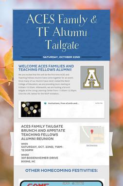 ACES Family & TF Alumni Tailgate