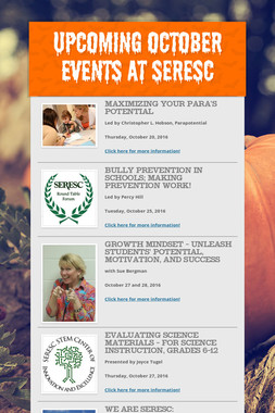 Upcoming October Events at SERESC