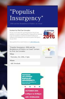 """Populist Insurgency"""