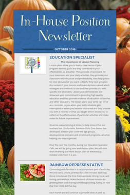 In-House Position Newsletter
