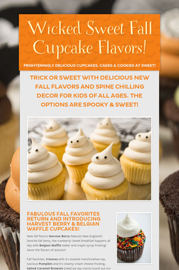 Wicked Sweet Fall Cupcake Flavors!