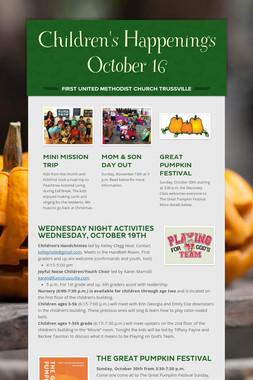 Children's Happenings    October 16