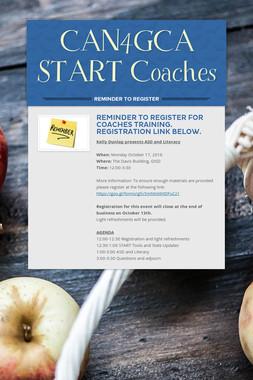 CAN4GCA START Coaches