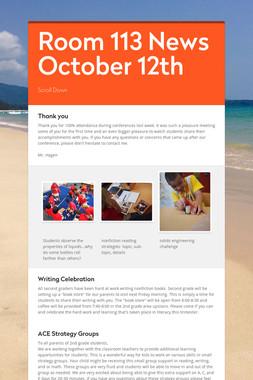 Room 113 News October 12th