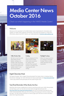 Media Center News October 2016