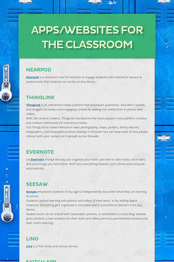 Apps/Websites for the Classroom