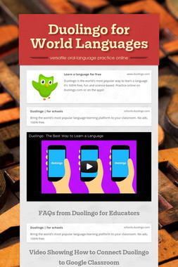 Duolingo for World Languages