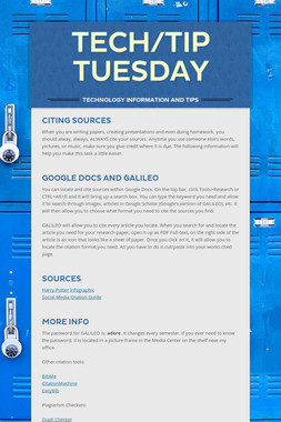 Tech/Tip Tuesday