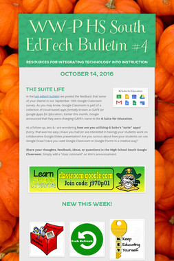 WW-P HS South EdTech Bulletin #4