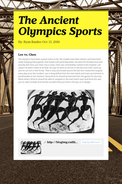 The Ancient Olympics Sports