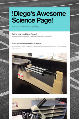 !Diego's Awesome Science Page!
