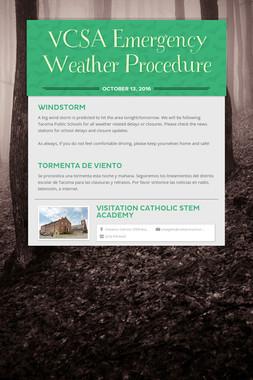 VCSA Emergency Weather Procedure