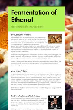 Fermentation of Ethanol