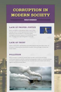 Corruption in Modern Society