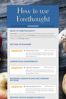 How to use Forethought
