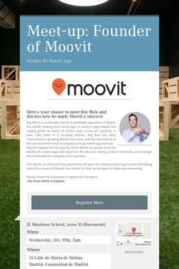 Meet-up: Founder of Moovit