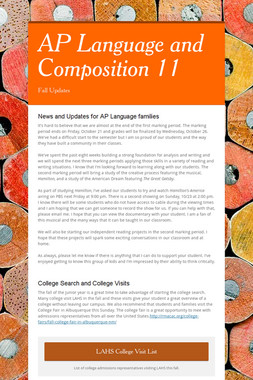 AP Language and Composition 11