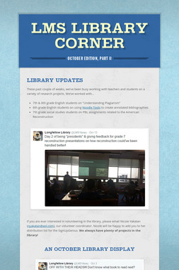 LMS Library Corner