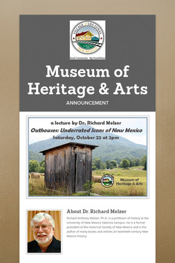 Museum of Heritage & Arts Presents