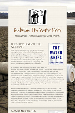 Bookclub: The Water Knife